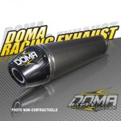 DOMA 402847 DOMA Silencer Single for OE collector Alu w. carbon end cap for Yamaha Raptor 700 (15-)
