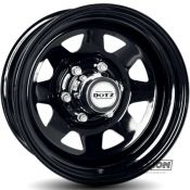 7.5x18 6x114.3 ET18 CTR66 Steel Dotz Dakar Dark (8 Spoke) (Dakar Dark (8 Spoke)) Black ORFKB18 incl blackcaps