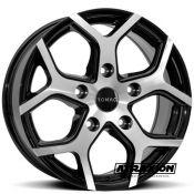 6.5x16 5x130 ET50 CTR89.1 Alu Romac Cobra Gloss Black Polished RMCOB F6674BMF