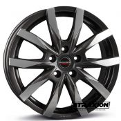 7.5x18 5x120 ET43 CTR65.1 Alu BORBET Cw 5 Mistral Anthracite Glossy Polished 496789
